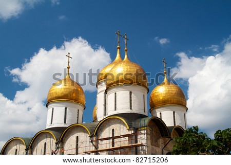 Dormition Cathedral in Moscow Kremlin