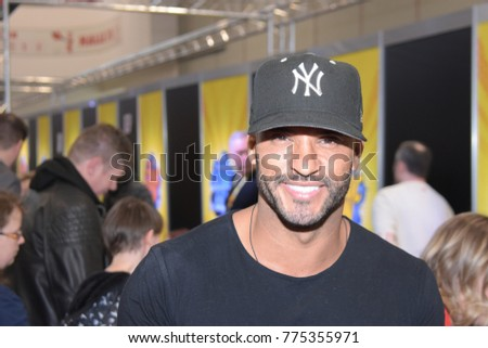 Dortmund, Germany - December 9th 2017: British Actor Ricky Whittle (* 1981, Shadow Moon in American Gods, Calvin Valentine in Hollyoaks) at German Comic Con Dortmund.