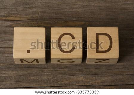 dot cd - internet domain for Democratic Republic of the Congo - stock photo
