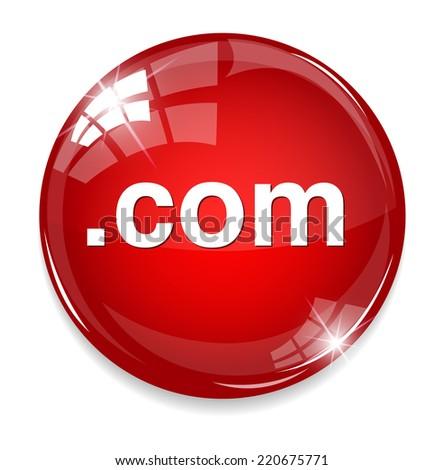 dot com  button - stock photo