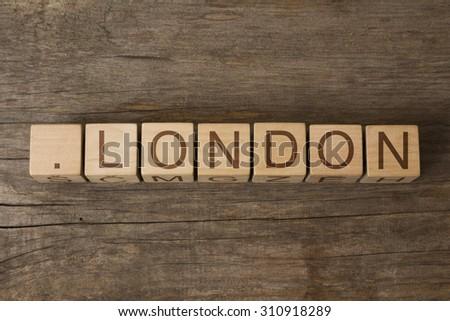 dot London - internet domain for London located business, company, community etc - stock photo