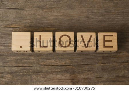 dot love - .LOVE is a new Top Level Domain extension that is more than an emotion - stock photo