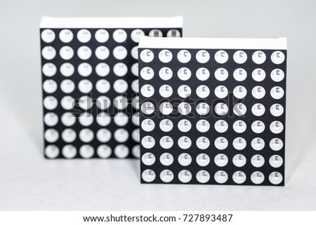 Dot matrix LED displays - close-up - small DOF