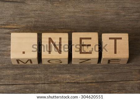 dot net - network internet domain - stock photo