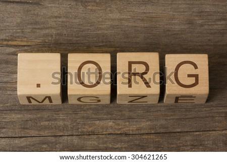 dot org - non-profit organization internet domain extension - stock photo