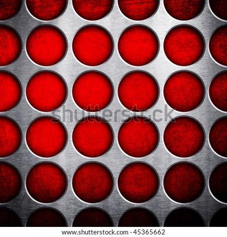 dot pattern metal background - stock photo