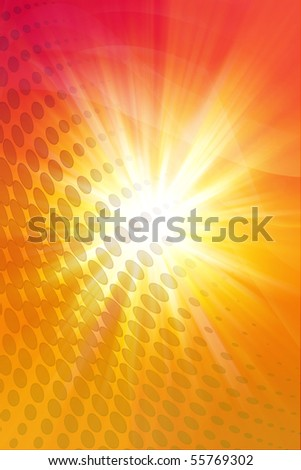Dots on abstract color background.