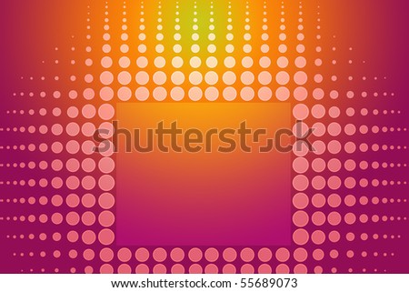 Dots on abstract orange and pink tone background