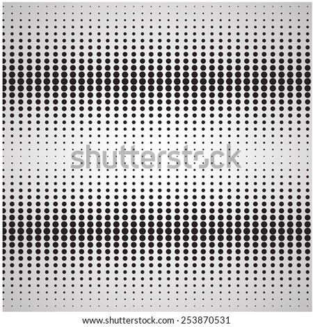 Dotted, black and white background. - stock photo