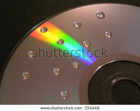 Dotted CD flame - stock photo