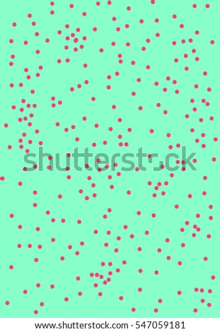 Dotted colored acid pattern
