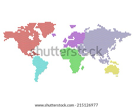Dotted map world continents colors stock illustration 215126977 dotted map world continents colors stock illustration 215126977 shutterstock gumiabroncs Image collections