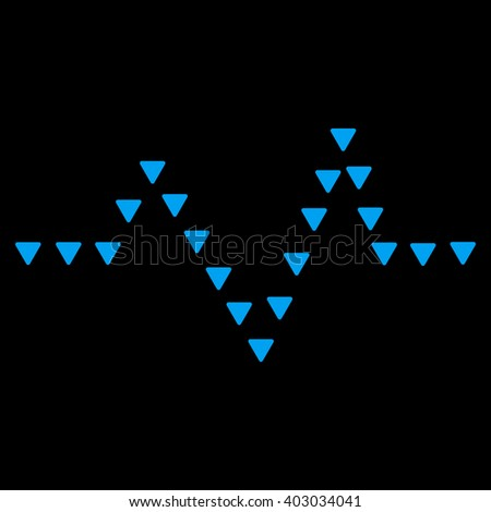 Dotted Pulse raster icon. Dotted Pulse icon symbol. Dotted Pulse icon image. Dotted Pulse icon picture. Dotted Pulse pictogram. Flat blue dotted pulse icon. Isolated dotted pulse icon graphic. - stock photo