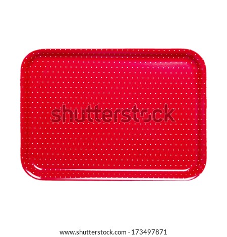 dotted tray - stock photo