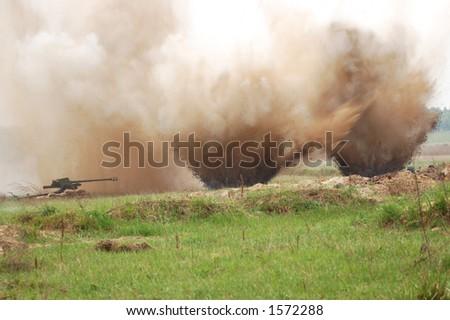 Double  blast - stock photo