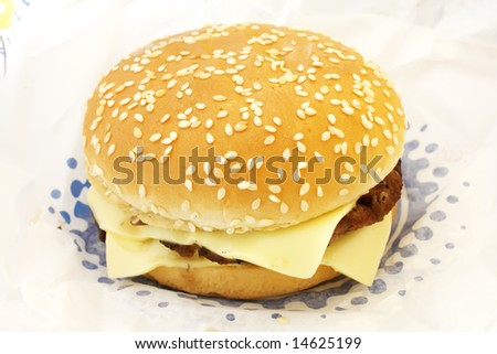 Double Cheese Burger the ultimate fast food meal