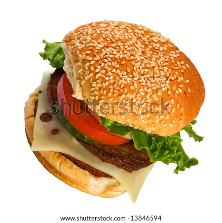 Double Cheeseburger - stock photo