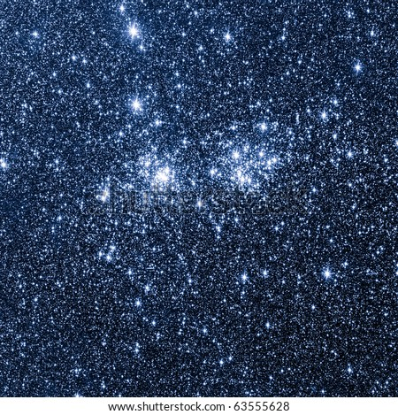 Double cluster of Perseus - stock photo