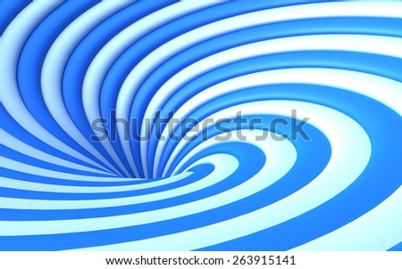 Double Colored Abstract 3d Vortex - stock photo