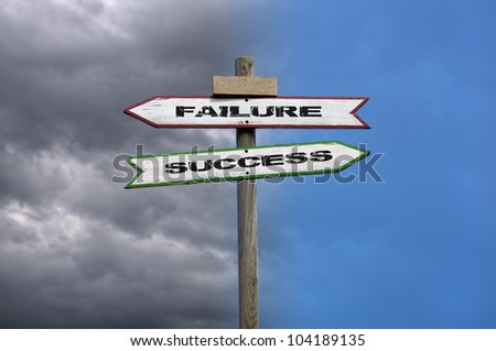 Double directional signs: success and failure with contrasted background