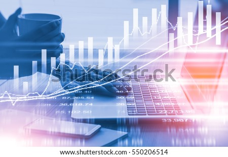 Double Exposure Analysis Financial Accounting On Stock ...
