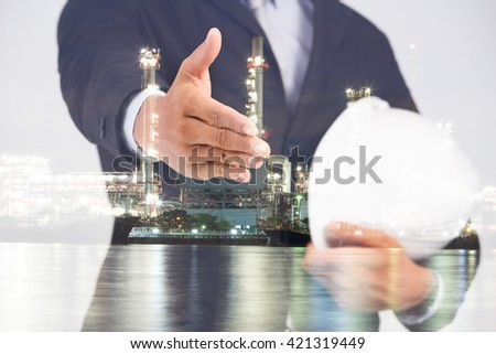 Double Exposure image of Businessman