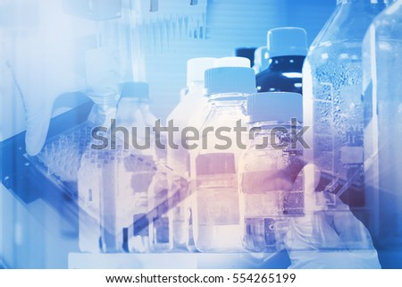 Double exposure of Research Laboratory Background