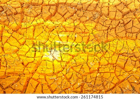 Double Exposure photo, Ground was broken because the heat from the sun. - stock photo