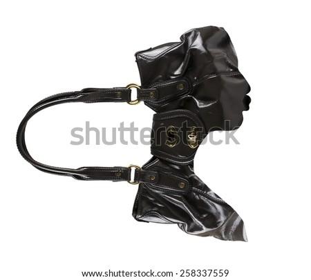 Double exposure portrait of womanbag.  - stock photo