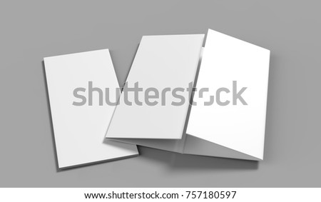 Double Gate Fold Vertical Four Panel Stock Illustration 757180597