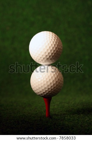 Double golf, only for very skilled golfers - stock photo