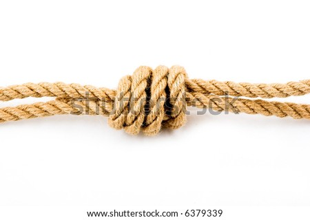 Double knot - stock photo