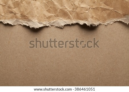 Double layered background of recycled paper - stock photo