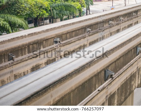 Double lrt track line light rail 766257097 shutterstock double lrt track line light rail construction lrt elevated track in malaysia mozeypictures Choice Image