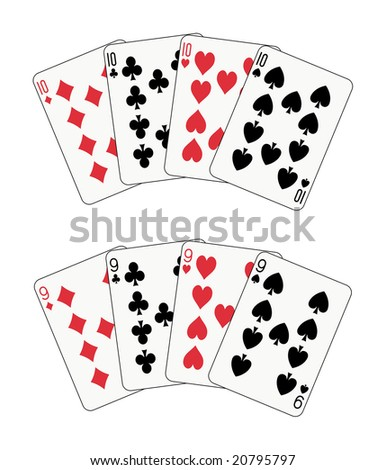 double poker, nines and tens (also available in vector format)
