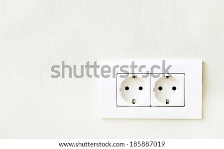 Double power outlet. - stock photo