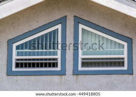 double sash mansard window