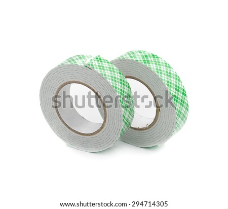 double sided tape on white background