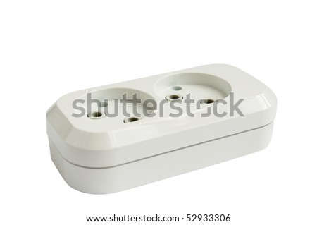 double socket on a white background