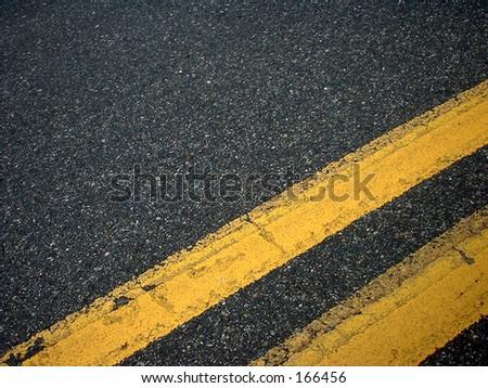 Double Yellow Line - stock photo