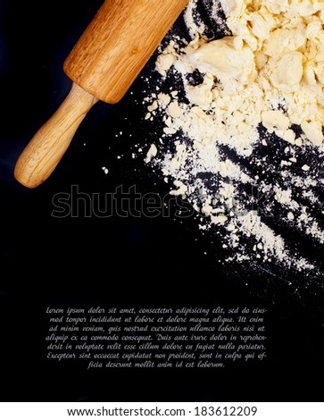 Dough background - stock photo