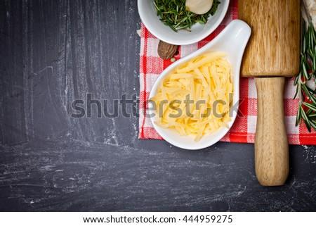 Dough background - stock photo