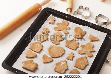 dough for a delicious ginger cookies - stock photo