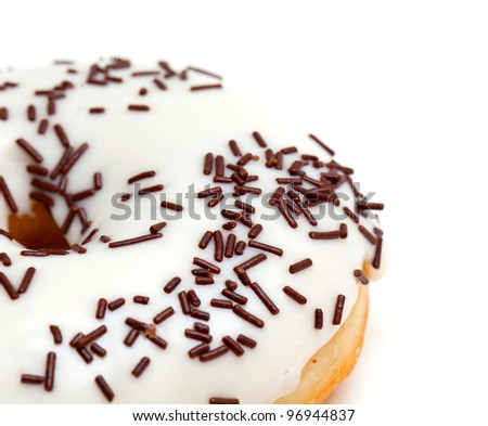 doughnut isolated on white