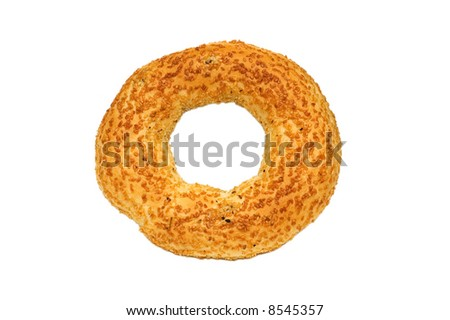 Doughnut with poppy-seeds isolated on the white