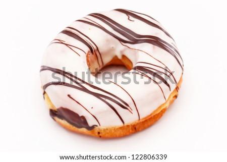doughnuts isolated on white - stock photo