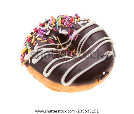 Doughnuts isolated on white background - stock photo