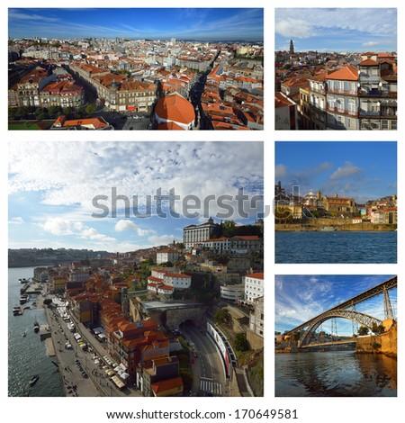 Douro river in Porto. Portugal  - stock photo
