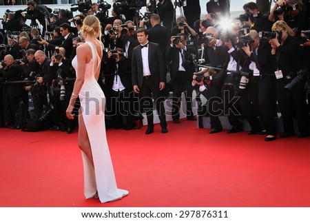 Doutzen Kroes attends the opening ceremony and 'La Tete Haute' premiere during the 68th annual Cannes Film Festival on May 13, 2015 in Cannes, France. - stock photo