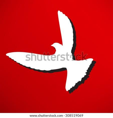 Dove of Peace illustration - stock photo